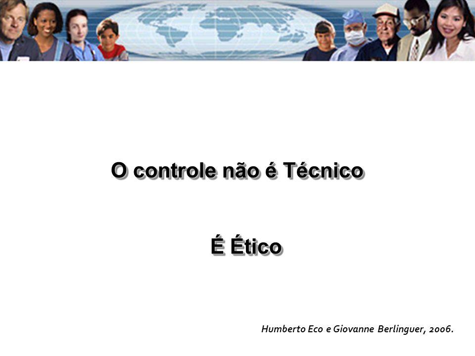 O controle não é Técnico É Ético