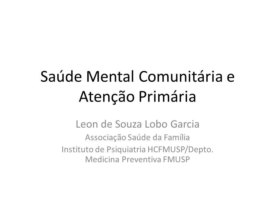 Saúde Mental Comunitária e Atenção Primária