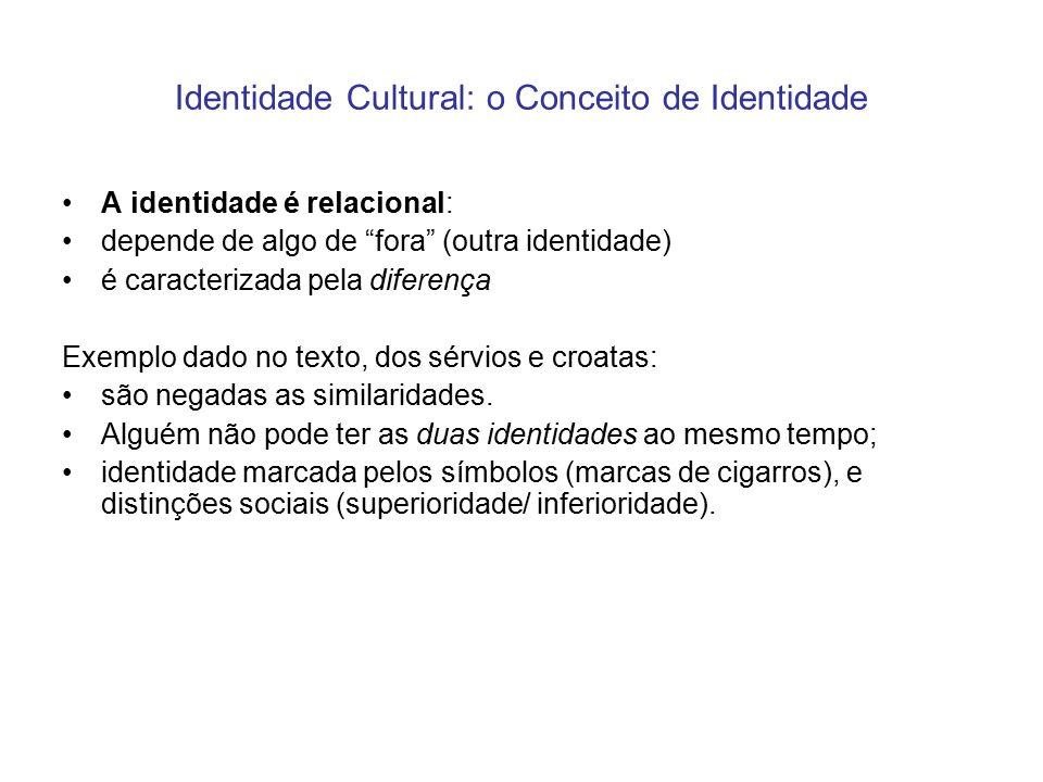 Identidade Cultural: o Conceito de Identidade