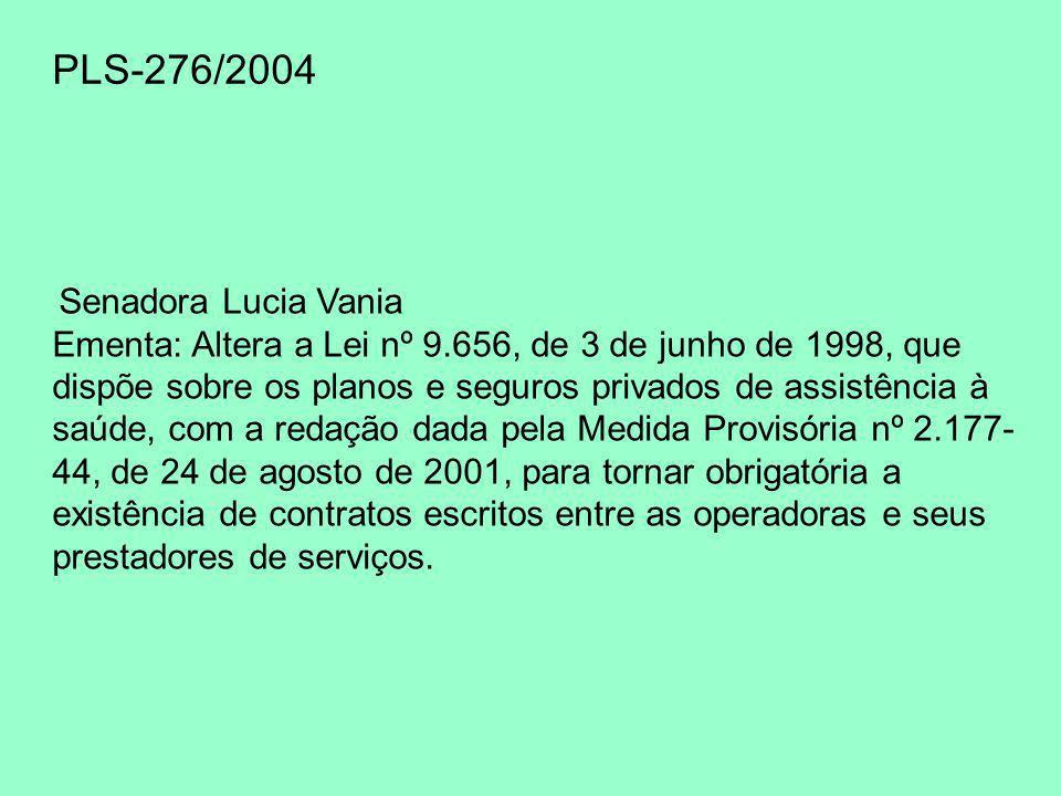 PLS-276/2004 Senadora Lucia Vania.
