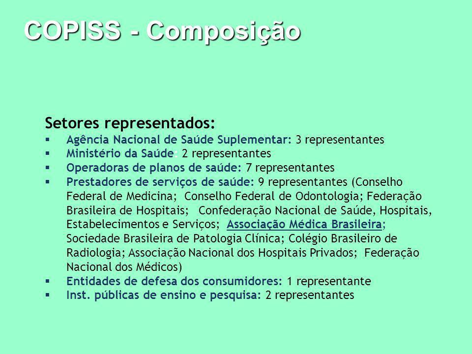 COPISS - Composição Setores representados: