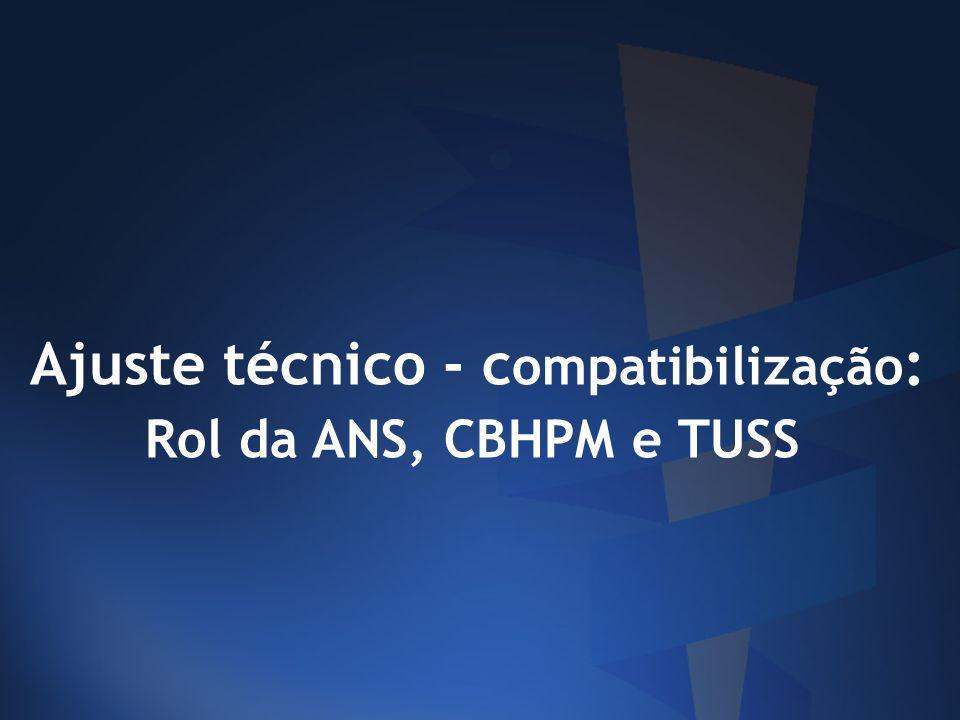 Ajuste técnico - compatibilização: