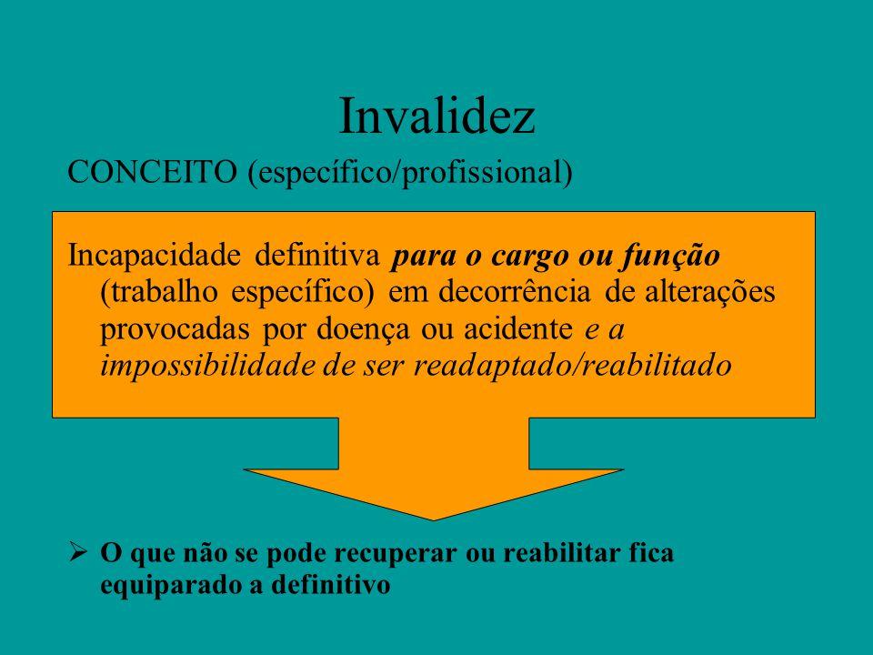 Invalidez CONCEITO (específico/profissional)