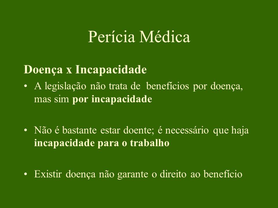 Perícia Médica Doença x Incapacidade