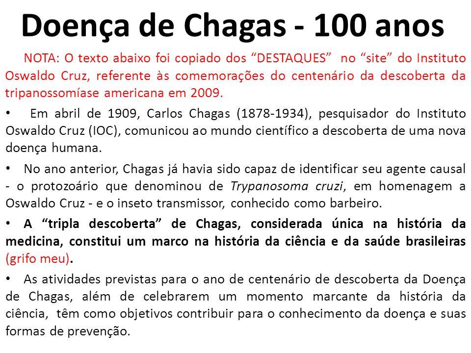 Doença de Chagas - 100 anos