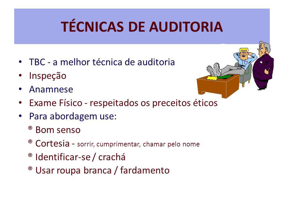TÉCNICAS DE AUDITORIA TBC - a melhor técnica de auditoria Inspeção