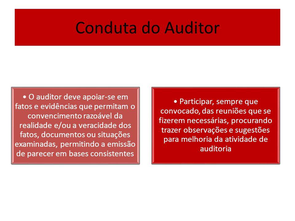 Conduta do Auditor