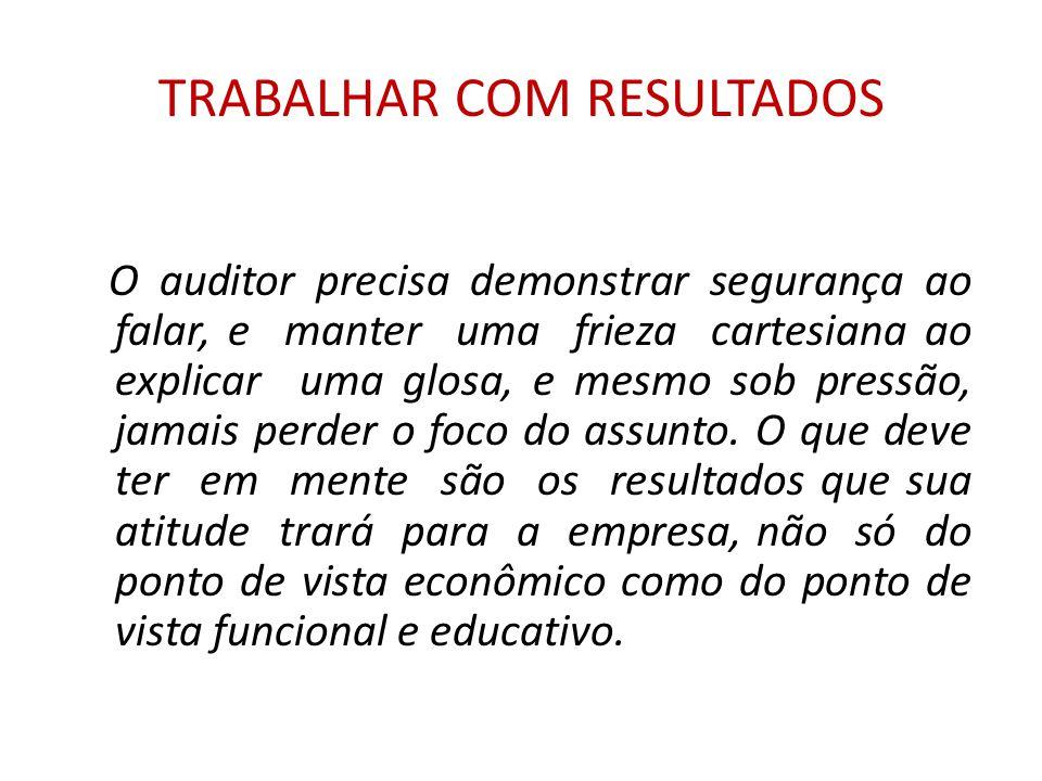 TRABALHAR COM RESULTADOS