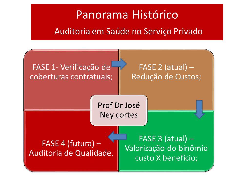 Panorama Histórico Auditoria em Saúde no Serviço Privado