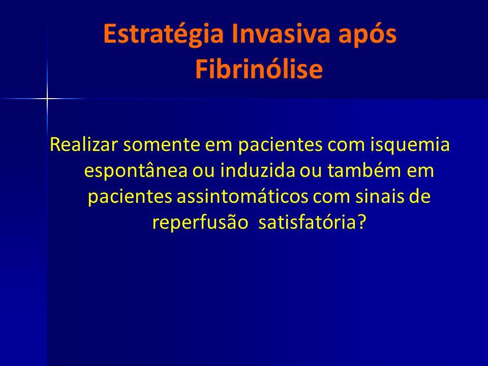 Estratégia Invasiva após Fibrinólise