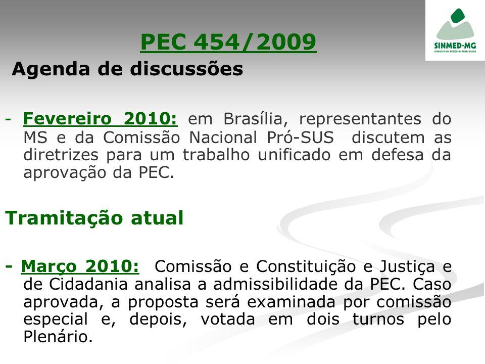 PEC 454/2009 Agenda de discussões