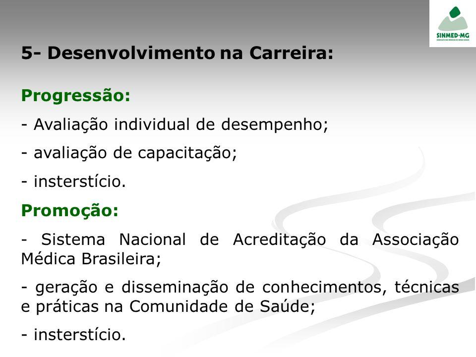 5- Desenvolvimento na Carreira:
