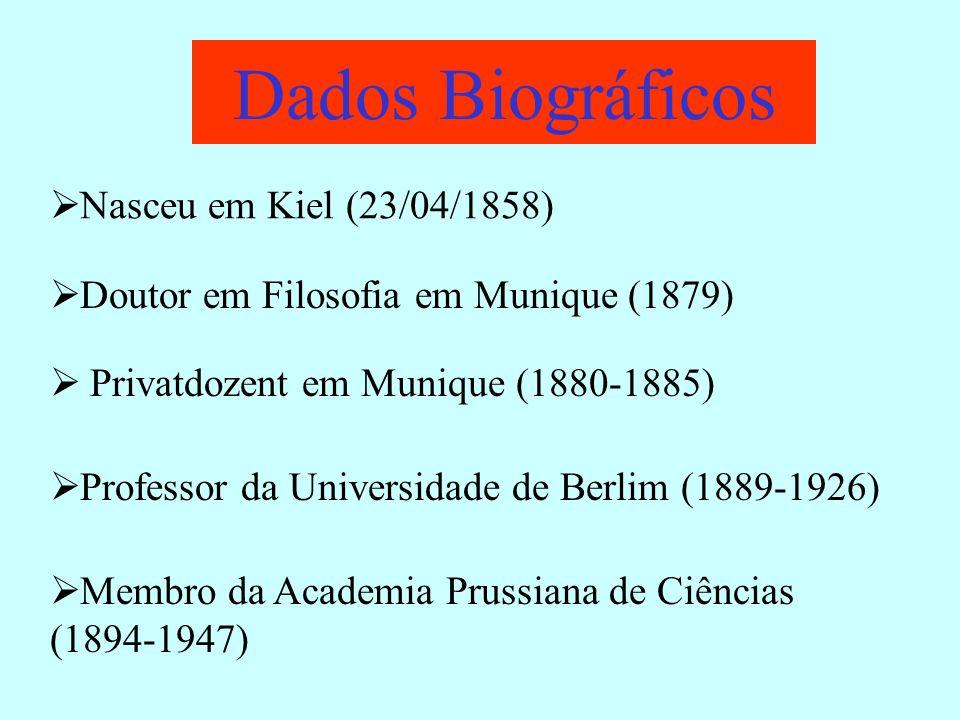 Dados Biográficos Nasceu em Kiel (23/04/1858)