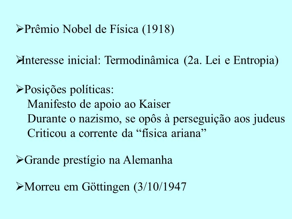 Prêmio Nobel de Física (1918)