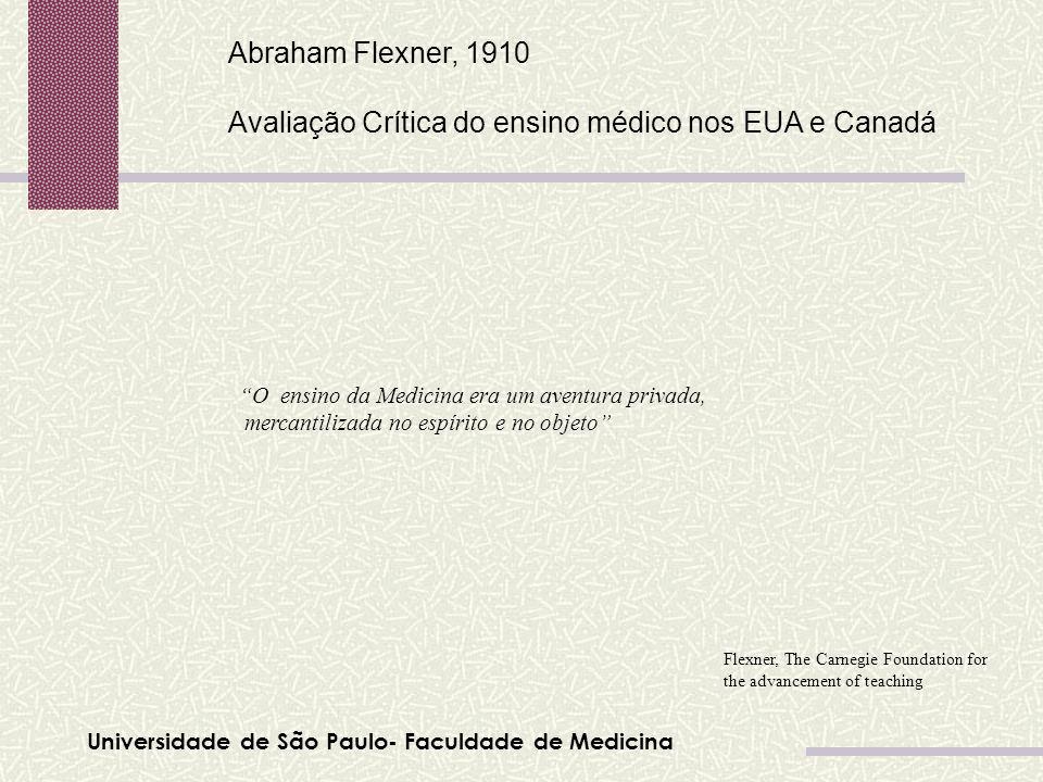 Avaliação Crítica do ensino médico nos EUA e Canadá