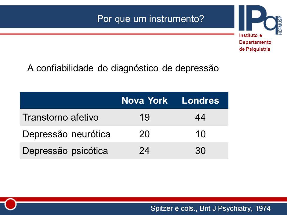 A confiabilidade do diagnóstico de depressão