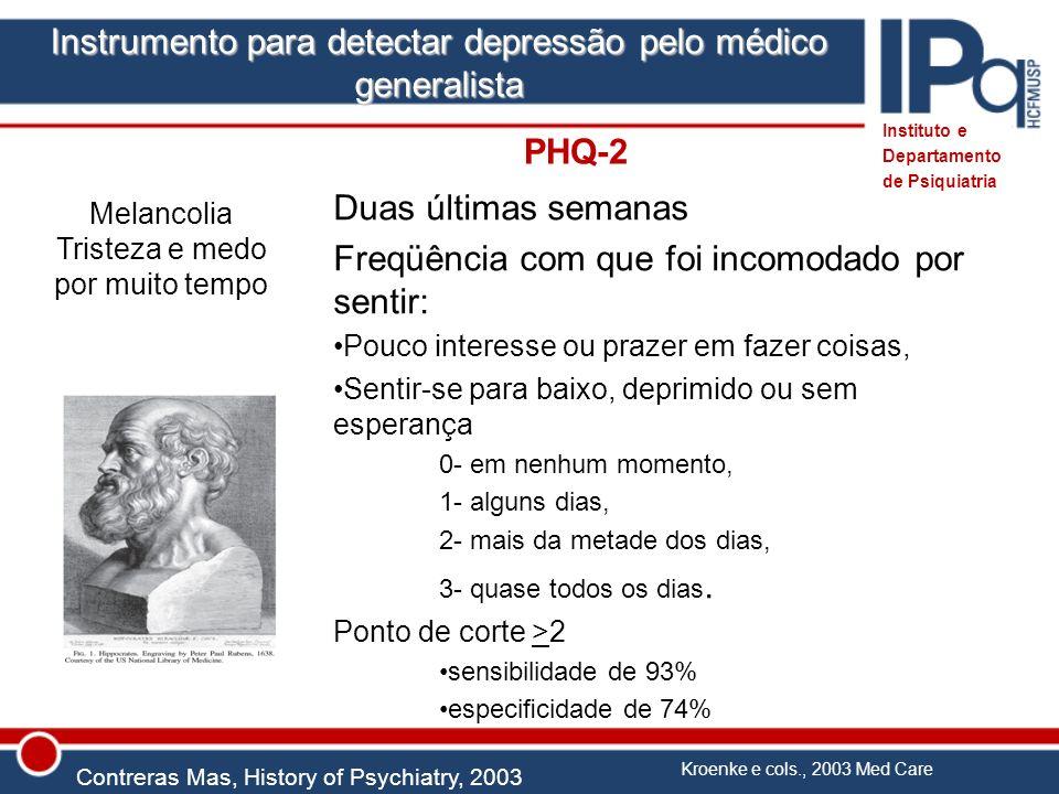 Instrumento para detectar depressão pelo médico generalista