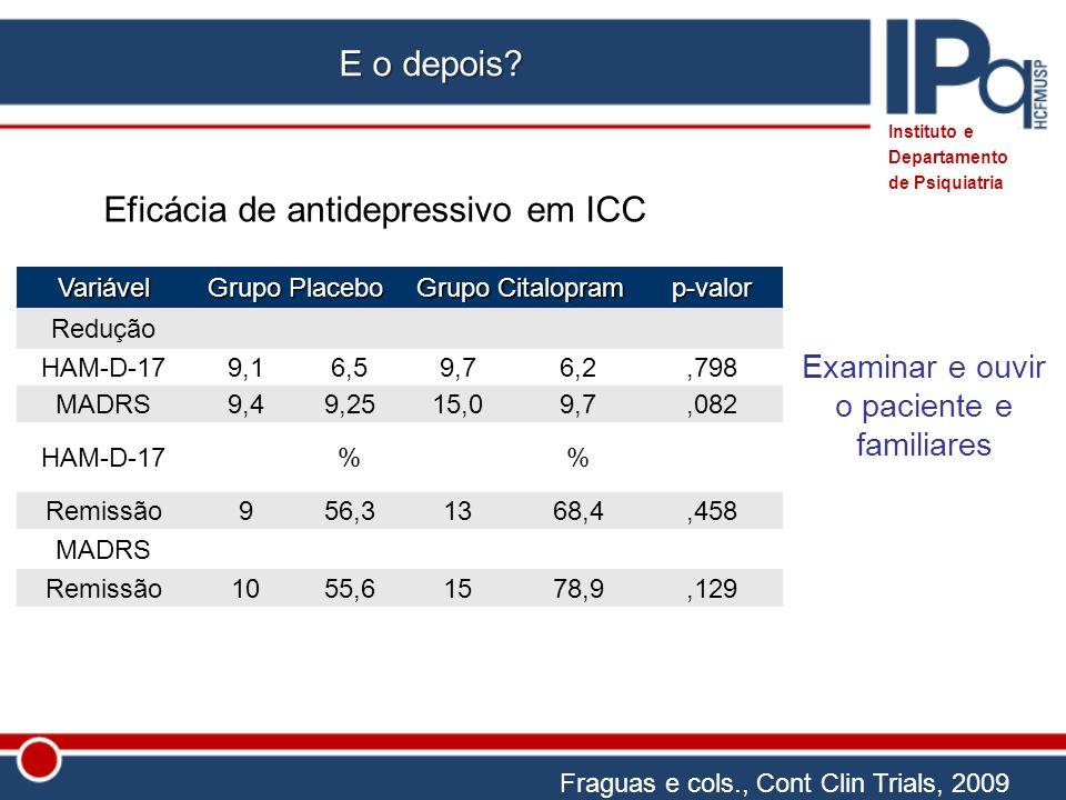 Eficácia de antidepressivo em ICC