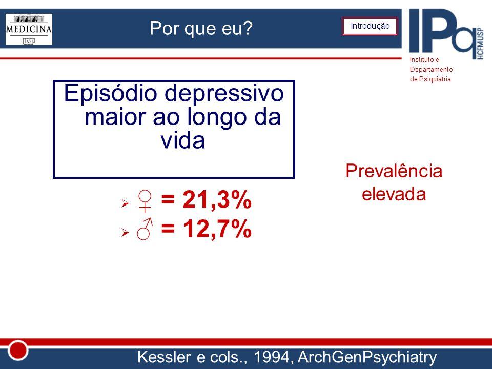 Episódio depressivo maior ao longo da vida