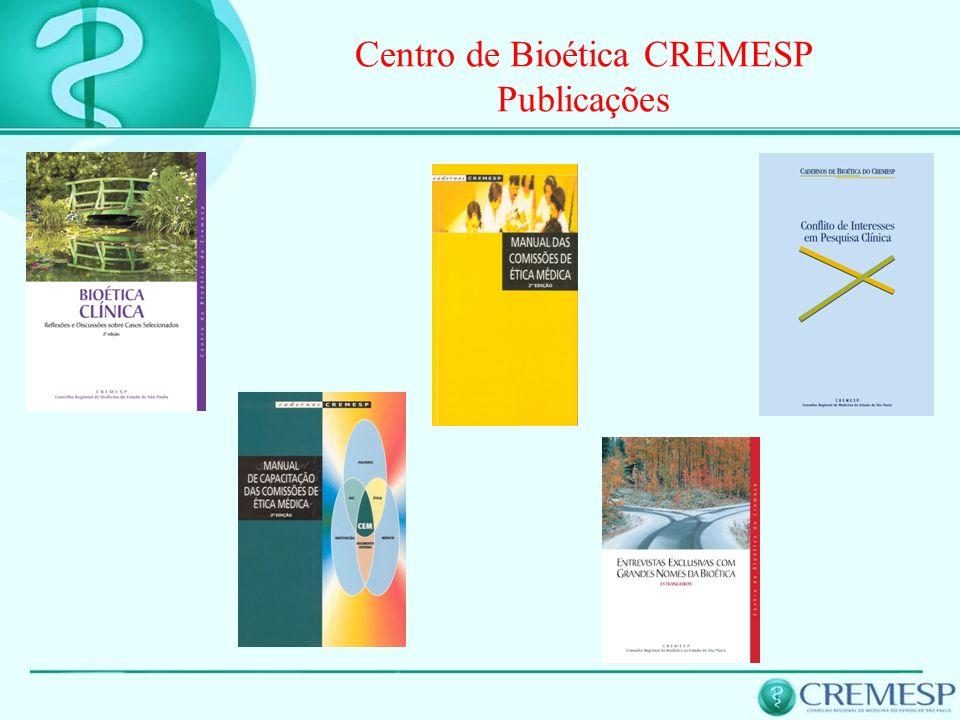 Centro de Bioética CREMESP Publicações