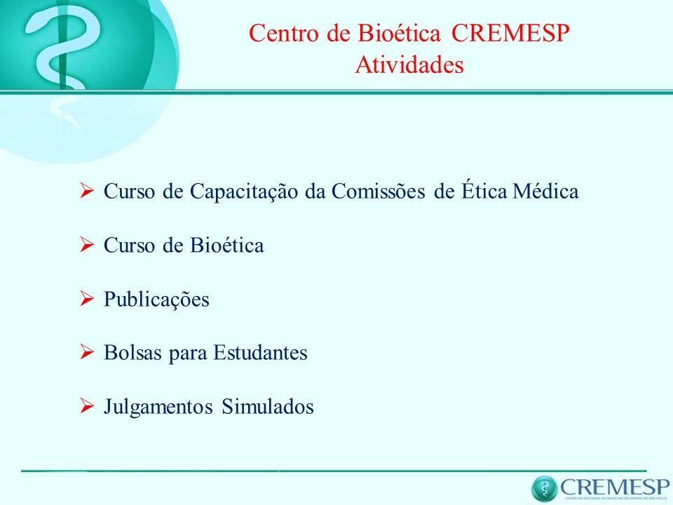 Centro de Bioética CREMESP Atividades