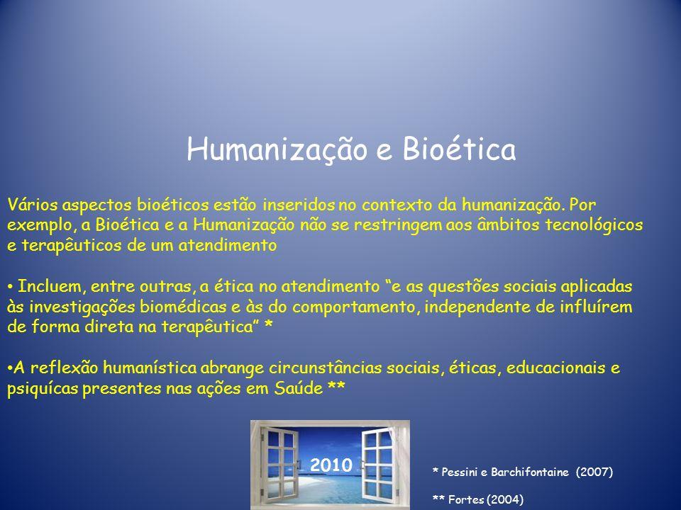Humanização e Bioética