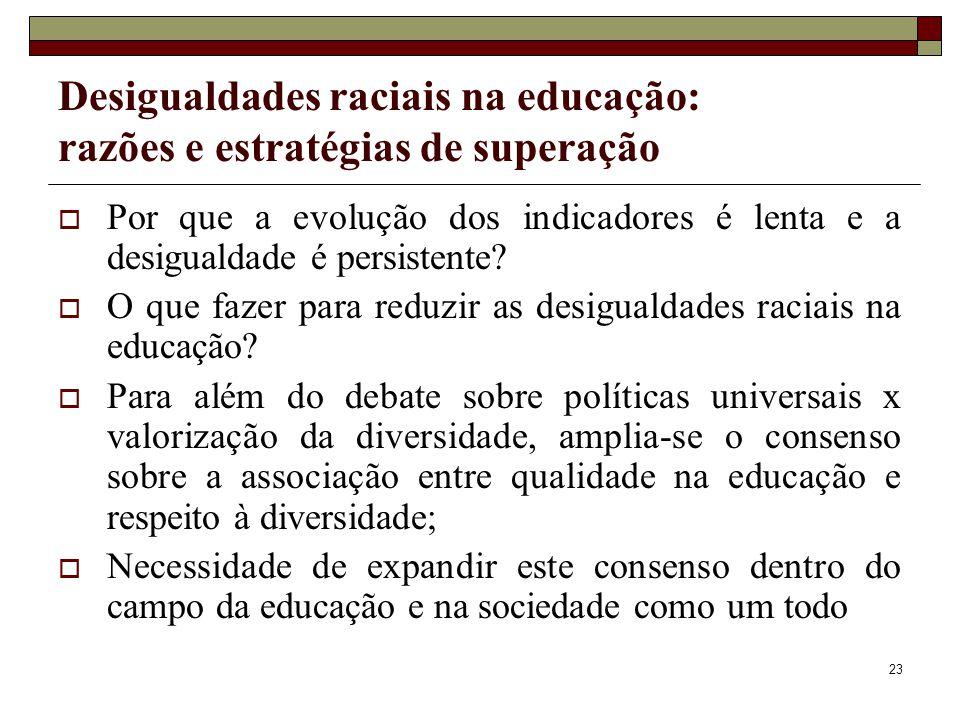 Desigualdades raciais na educação: razões e estratégias de superação