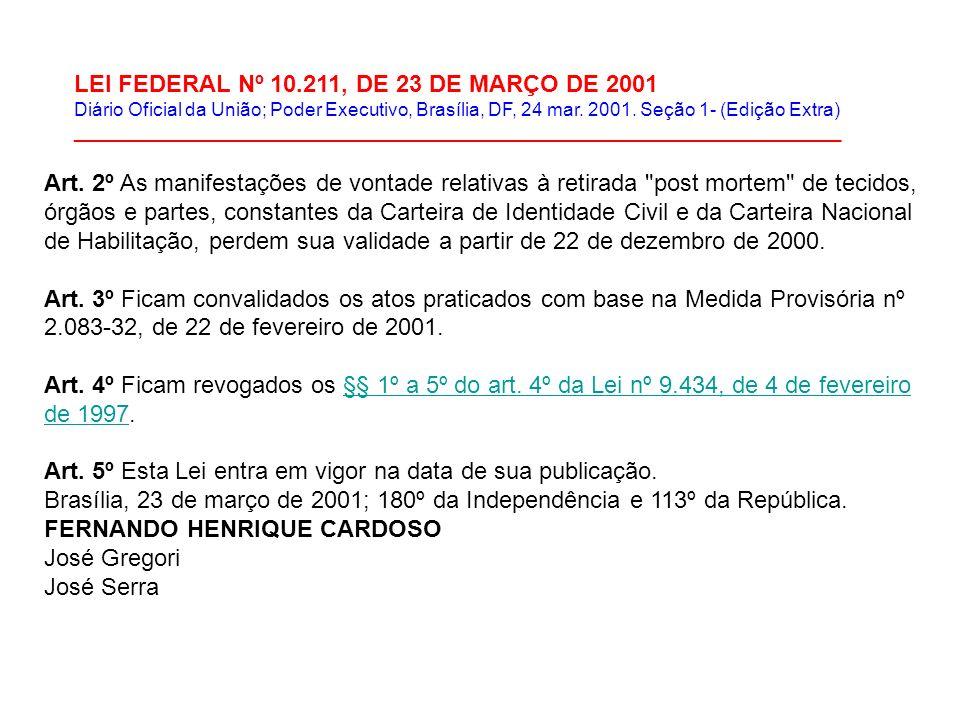 LEI FEDERAL Nº 10.211, DE 23 DE MARÇO DE 2001