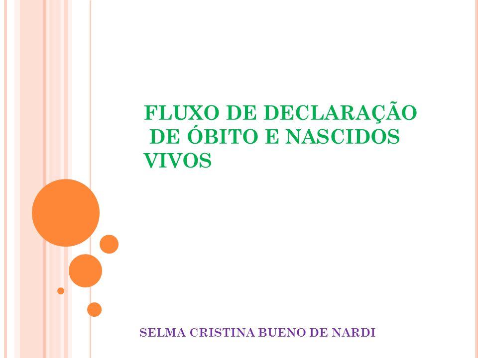 FLUXO DE DECLARAÇÃO DE ÓBITO E NASCIDOS VIVOS