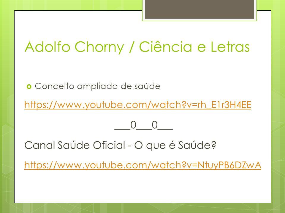 Adolfo Chorny / Ciência e Letras
