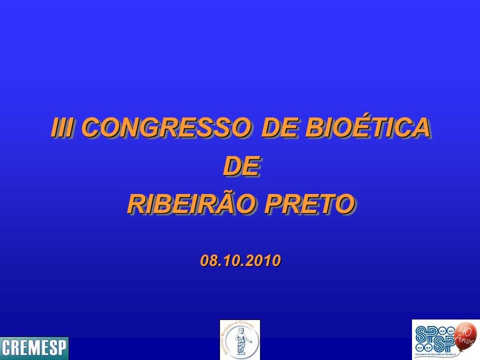 III CONGRESSO DE BIOÉTICA