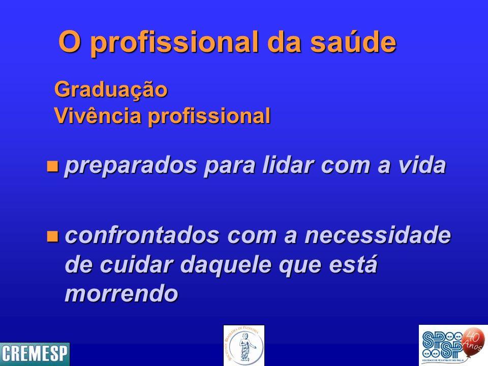 O profissional da saúde