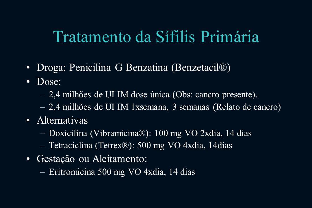 Tratamento da Sífilis Primária