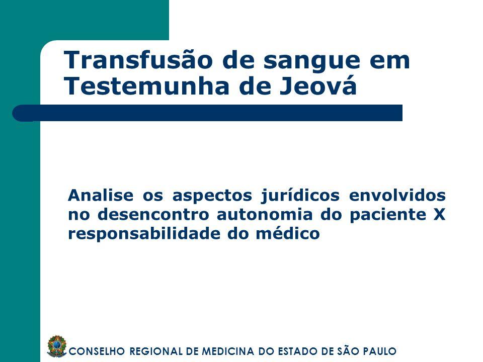 Transfusão de sangue em Testemunha de Jeová