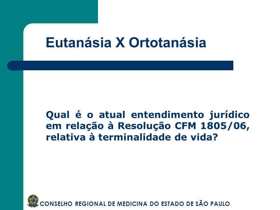 Eutanásia X Ortotanásia