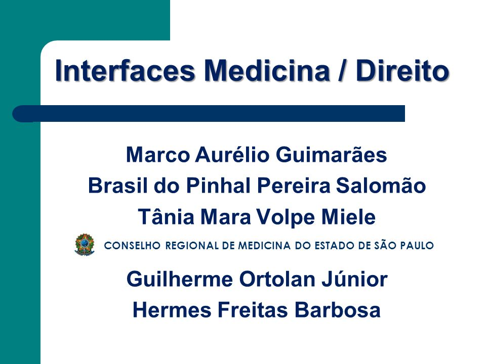 Interfaces Medicina / Direito