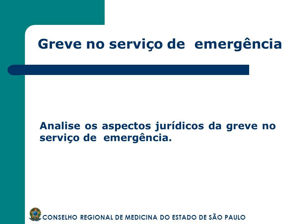 Greve no serviço de emergência