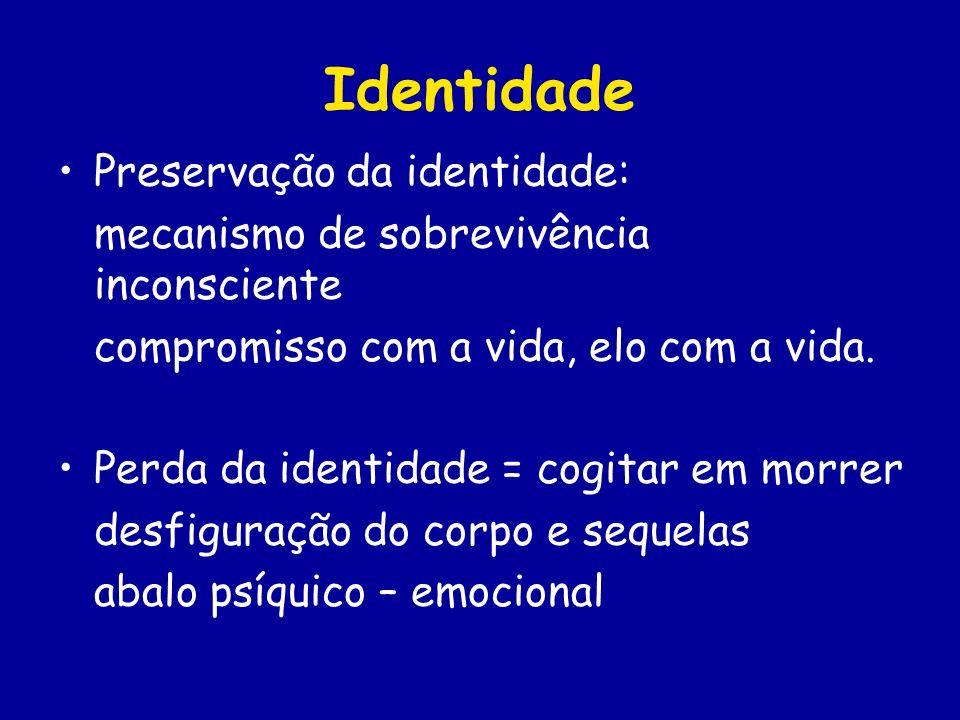 Identidade Preservação da identidade: