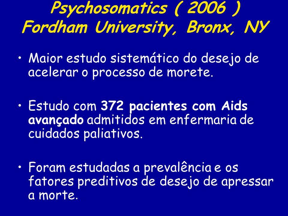 Psychosomatics ( 2006 ) Fordham University, Bronx, NY