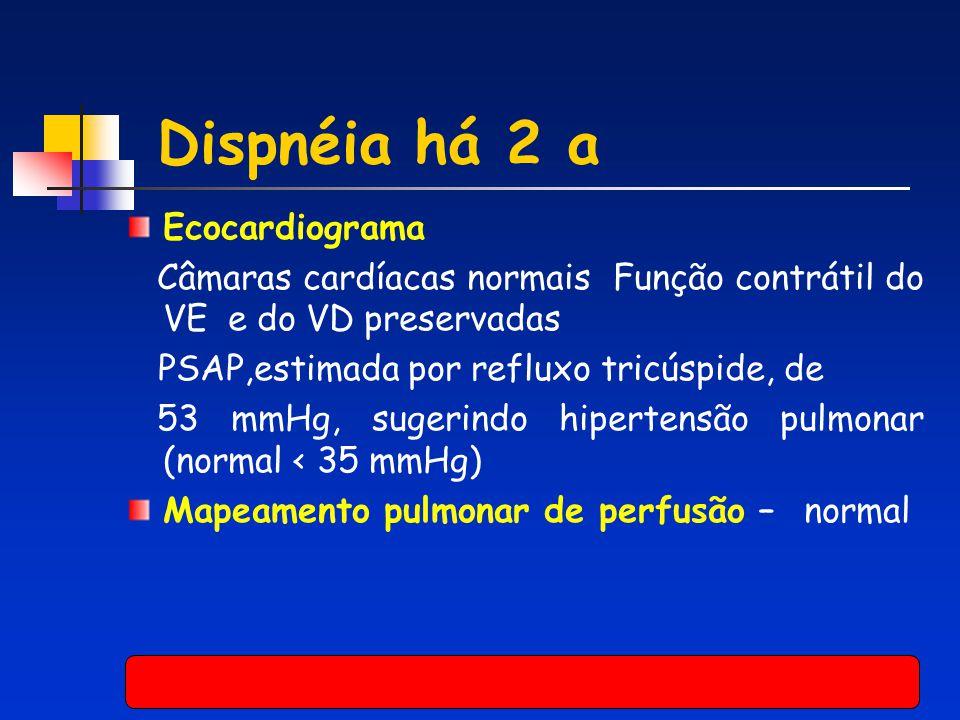 Dispnéia há 2 a Ecocardiograma