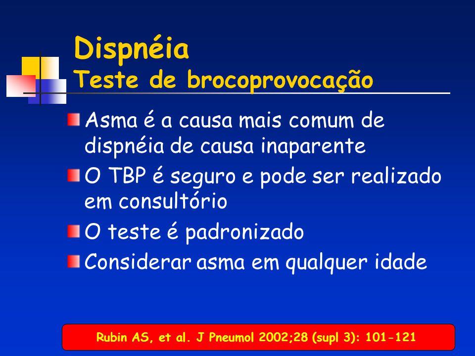 Dispnéia Teste de brocoprovocação