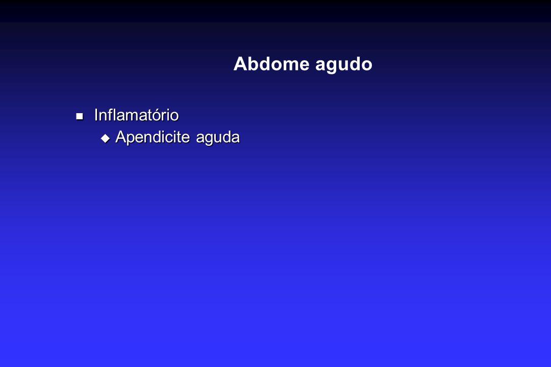 Abdome agudo Inflamatório Apendicite aguda