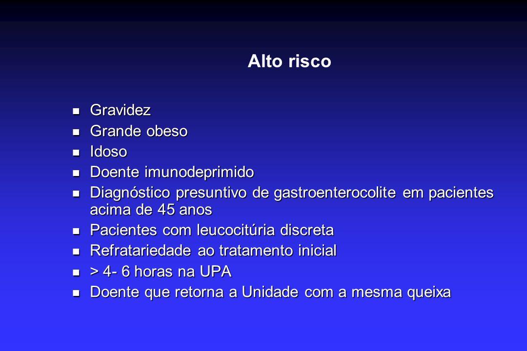 Alto risco Gravidez Grande obeso Idoso Doente imunodeprimido