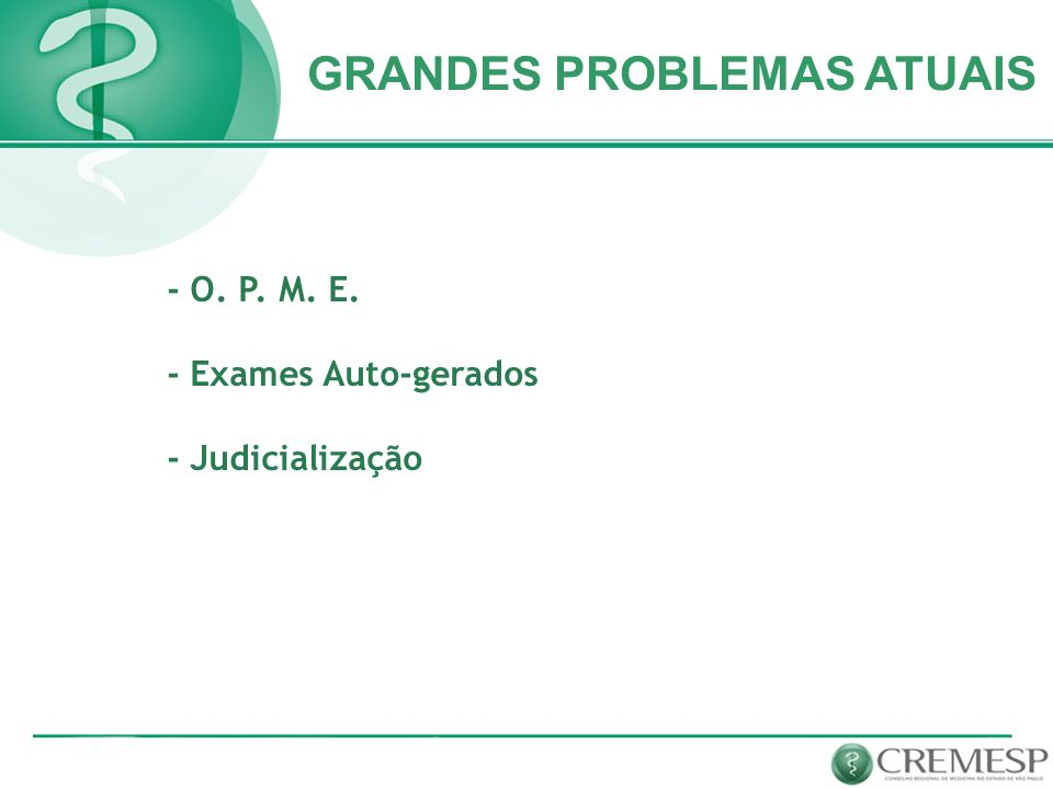 GRANDES PROBLEMAS ATUAIS