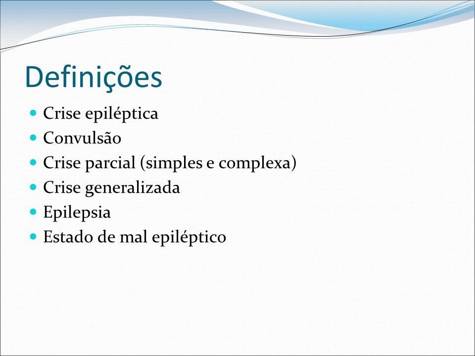 Definições Crise epiléptica Convulsão