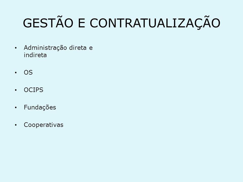 GESTÃO E CONTRATUALIZAÇÃO