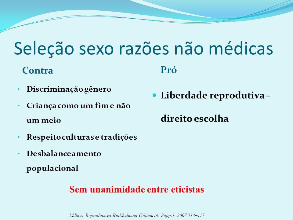 Seleção sexo razões não médicas