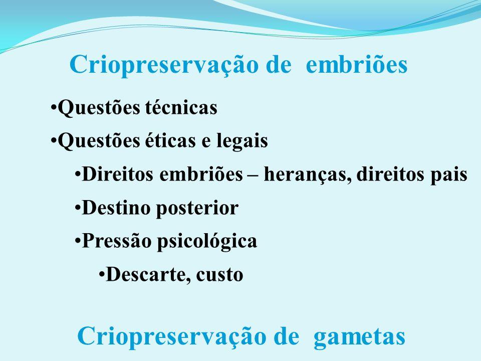 Criopreservação de embriões