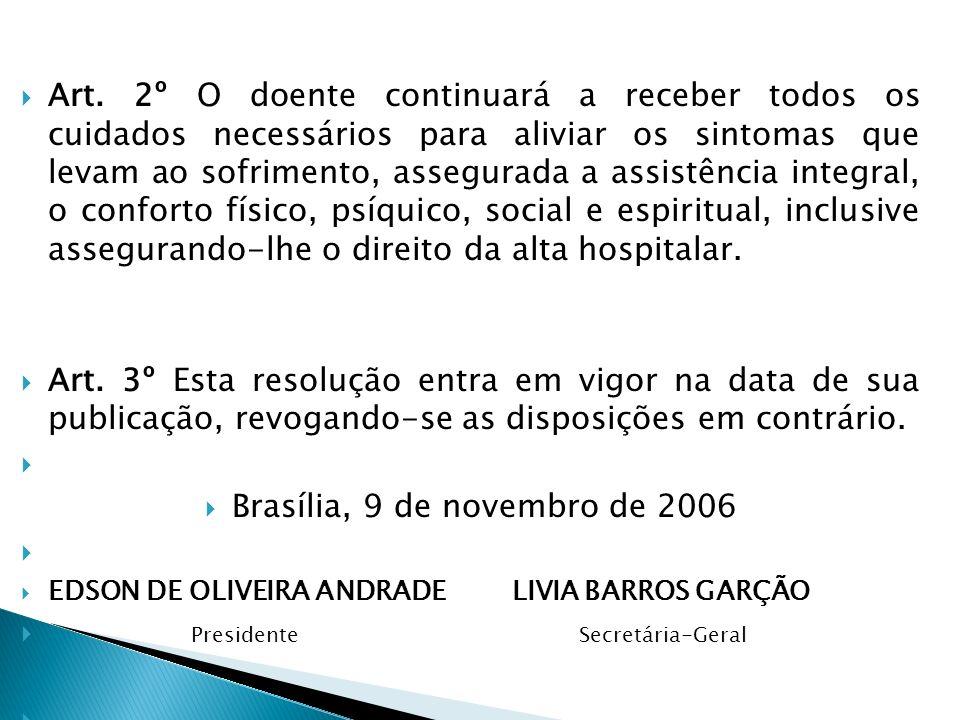 Brasília, 9 de novembro de 2006