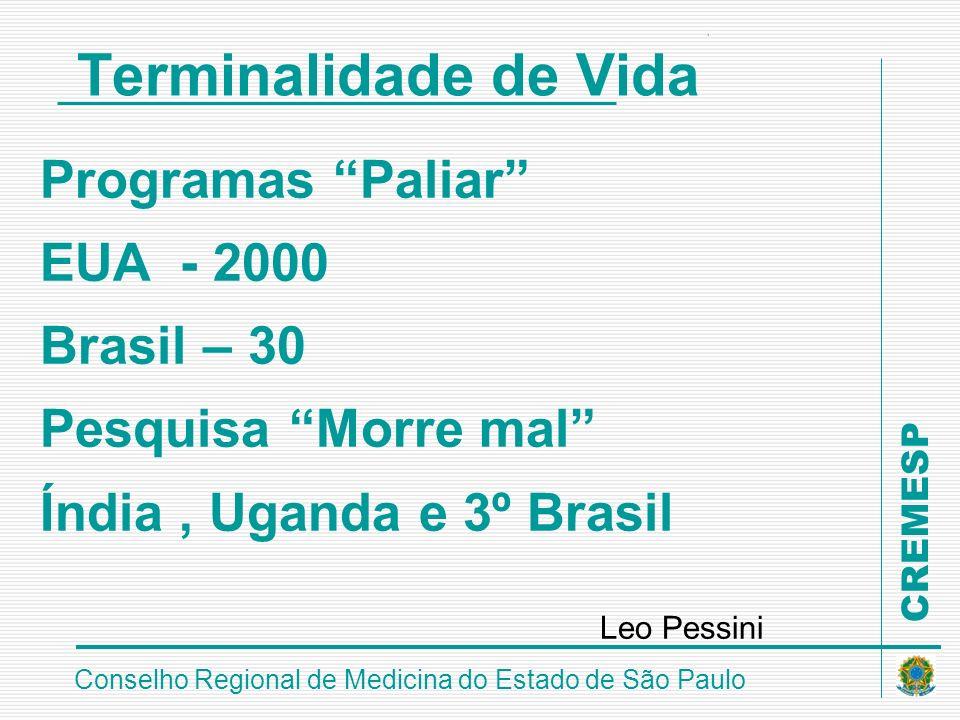 Leo Pessini Terminalidade de Vida Programas Paliar EUA - 2000